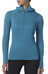 Patagonia W's Capilene Thermal Weight Zip-Neck Hoody Ultramarine - Underwater Blue X-Dye
